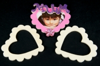WOODEN FRAME HEART 90mm 4 PC/PKT* - Click for more info