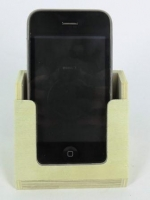 WOODEN MOBILE PHONE HOLDER  NATURAL 6PC/PKT - Click for more info