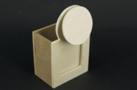 WOODEN HOLDER W/PHOTO ROUND 130x50x75mm 1 PC- - Click for more info