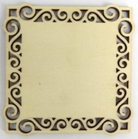Lasercut Wooden Coasters Natural 6pc # - Click for more info
