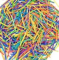 LITTLE WOOD MATCHSTICKS COLOURED 3,000 PC - Click for more info