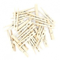 WOOD PEG W/SPR MINI NATURAL 48mm 48 PC ## - Click for more info