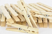 WOOD PEG W/SPR LGE NATURAL 85mm 48 PC* - Click for more info