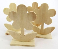WOOD STAND UP FLOWER 5 PC* - Click for more info