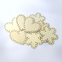 WOOD WEAVING SHAPES FLOWER/HEART 8 PC - Click for more info