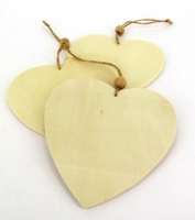 WOOD HANGER HEART 6 PC - Click for more info
