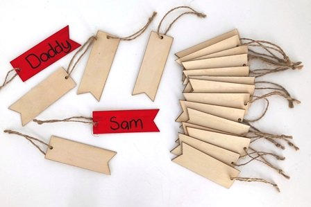 WOOD TAGS 20 PC - Click for more info