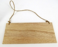 WOOD PLAQUE W/JUTE HANGER 6 PC - Click for more info