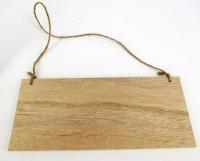 Wooden Plaque Plain with Jute hanger 6 PC - Click for more info