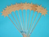 WOOD WAND STAR 100mm  1 PC # - Click for more info