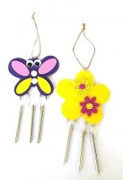 WOOD WINDCHIMES BUTTERFLY / FLOWER 10 PC - Click for more info