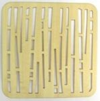 Plywood Veneer Natural - Square 4pc # - Click for more info