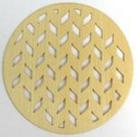 Plywood Veneer Natural - Circle 4pc # - Click for more info