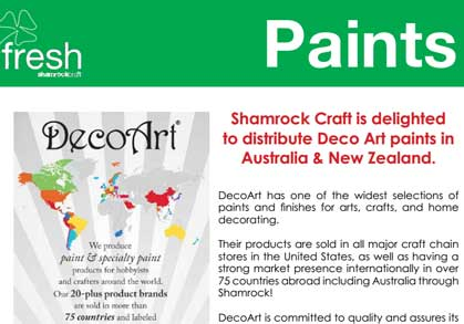 Decoart Paints at Shamrock!